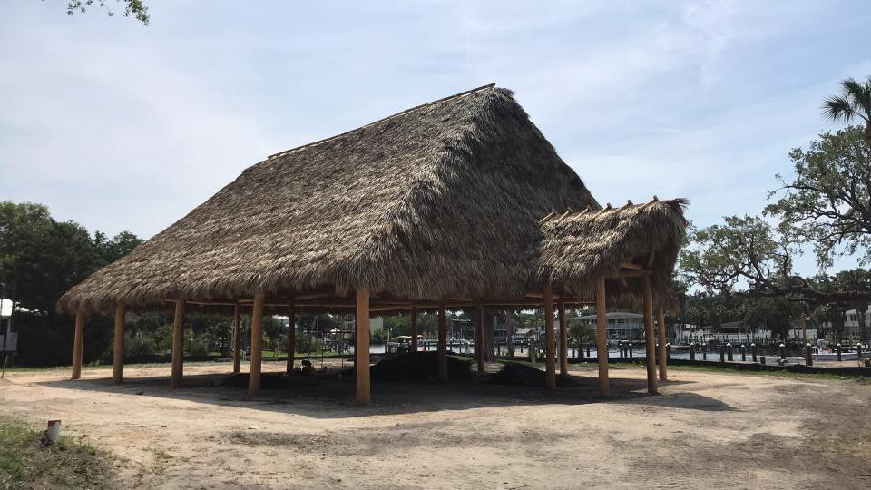 Tiki hut on a beach