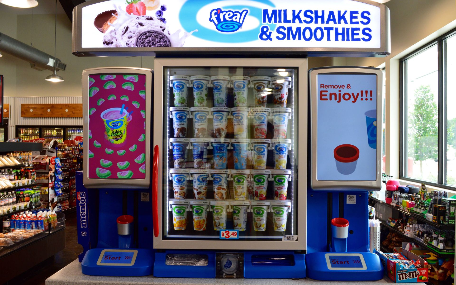 F'real milkshake and smoothie machine on a counter-top
