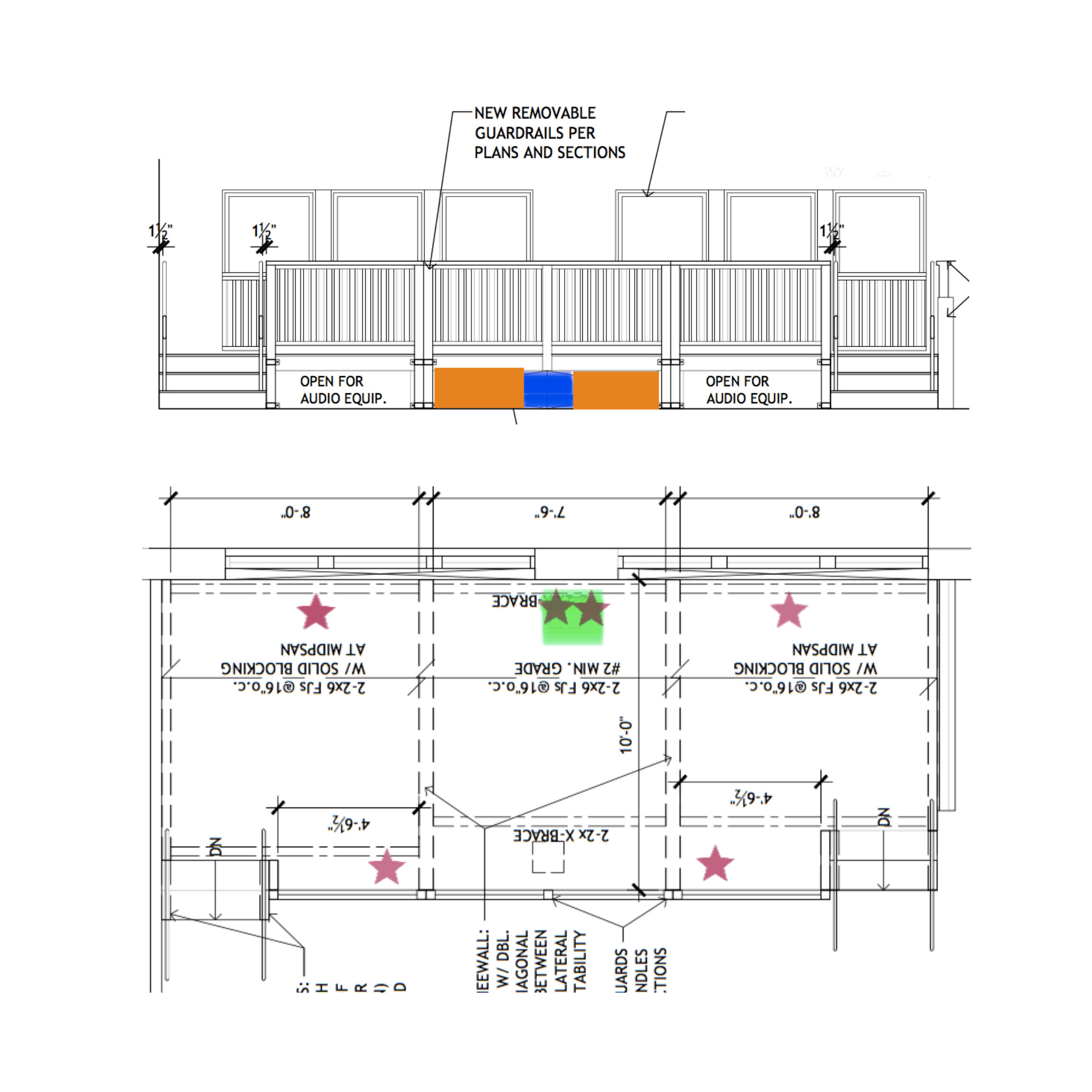 drawing of Stage layout