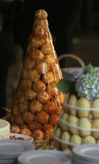 tower of pastires in the shape of a tree