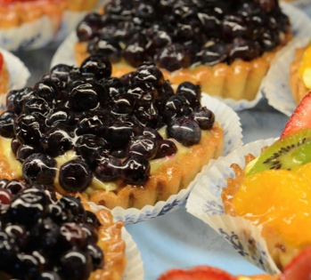 assortment of mini fruit tarts