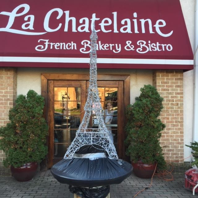 display of eifel tower outside