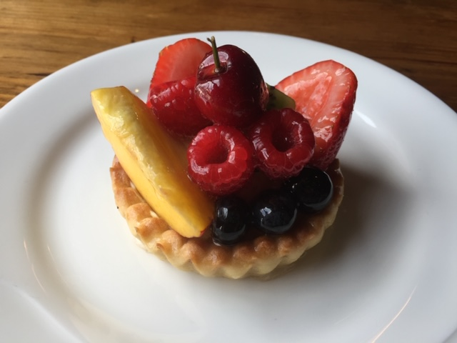 fruit tart cup on a plate