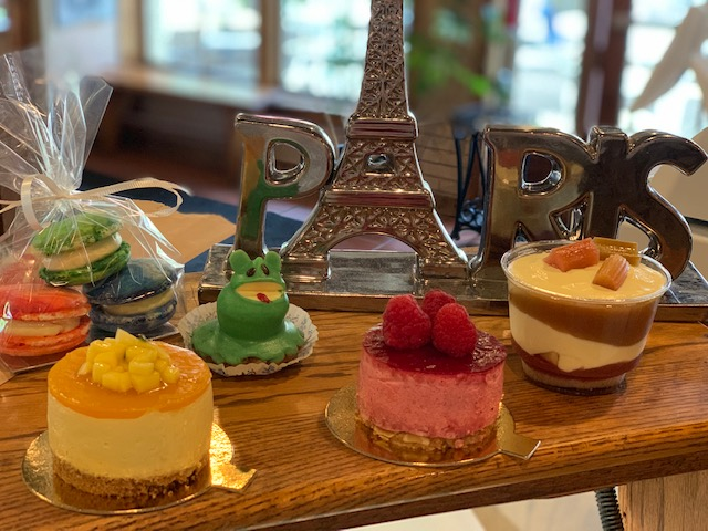 french decor with an assortment of pastries
