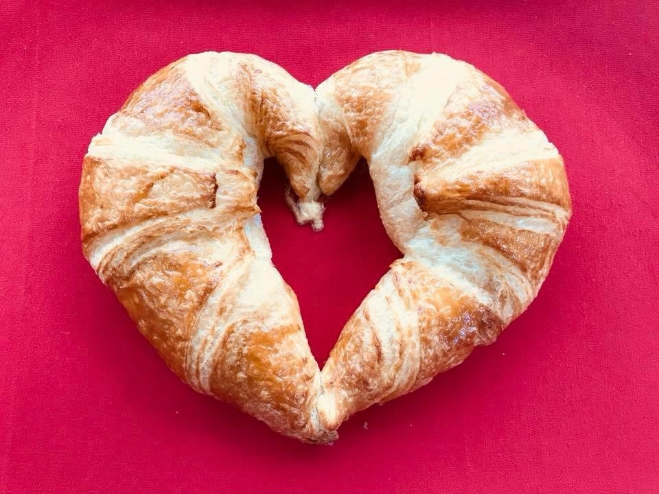 heart shaped croissant