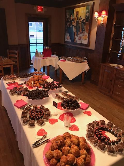 table with an assortment of pastries