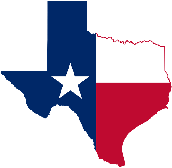 decorative texas state outline designed with the texas flag
