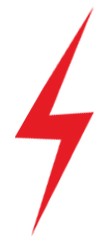 decorative lightning bolt graphic