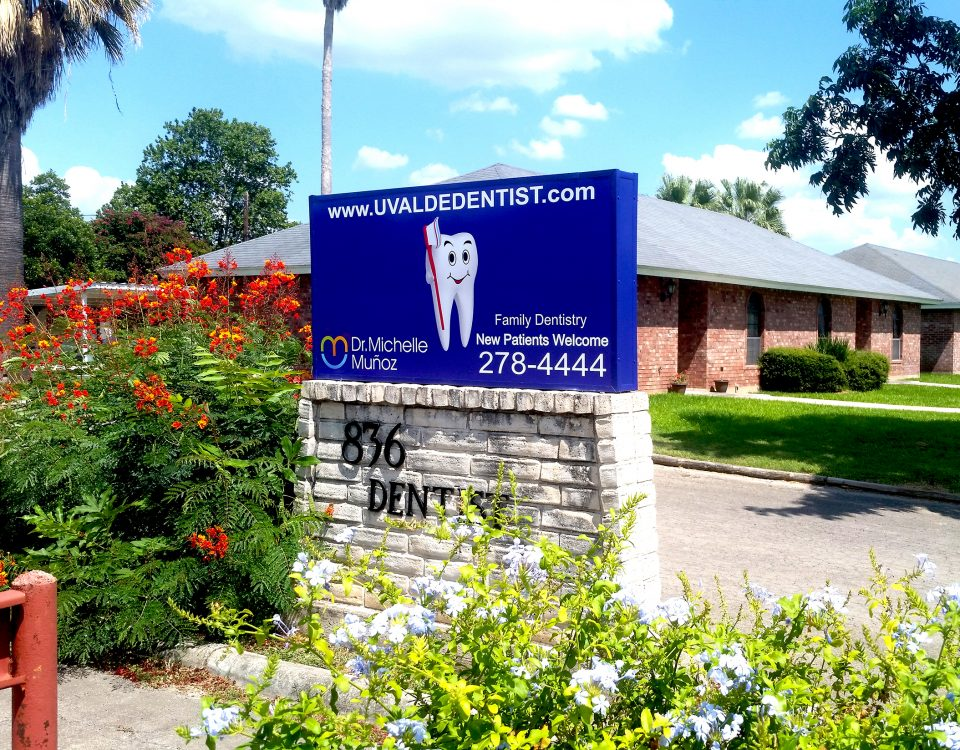 outdoor signage installed for a local family dentistry