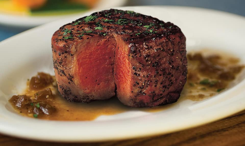Filet mignon on a plate