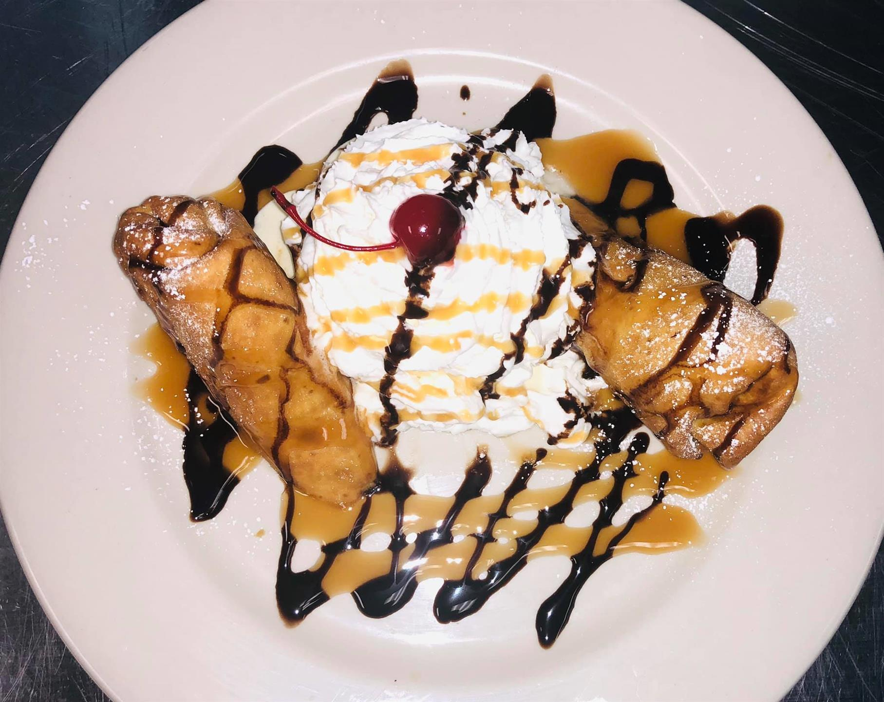 Banana chimichanga dessert