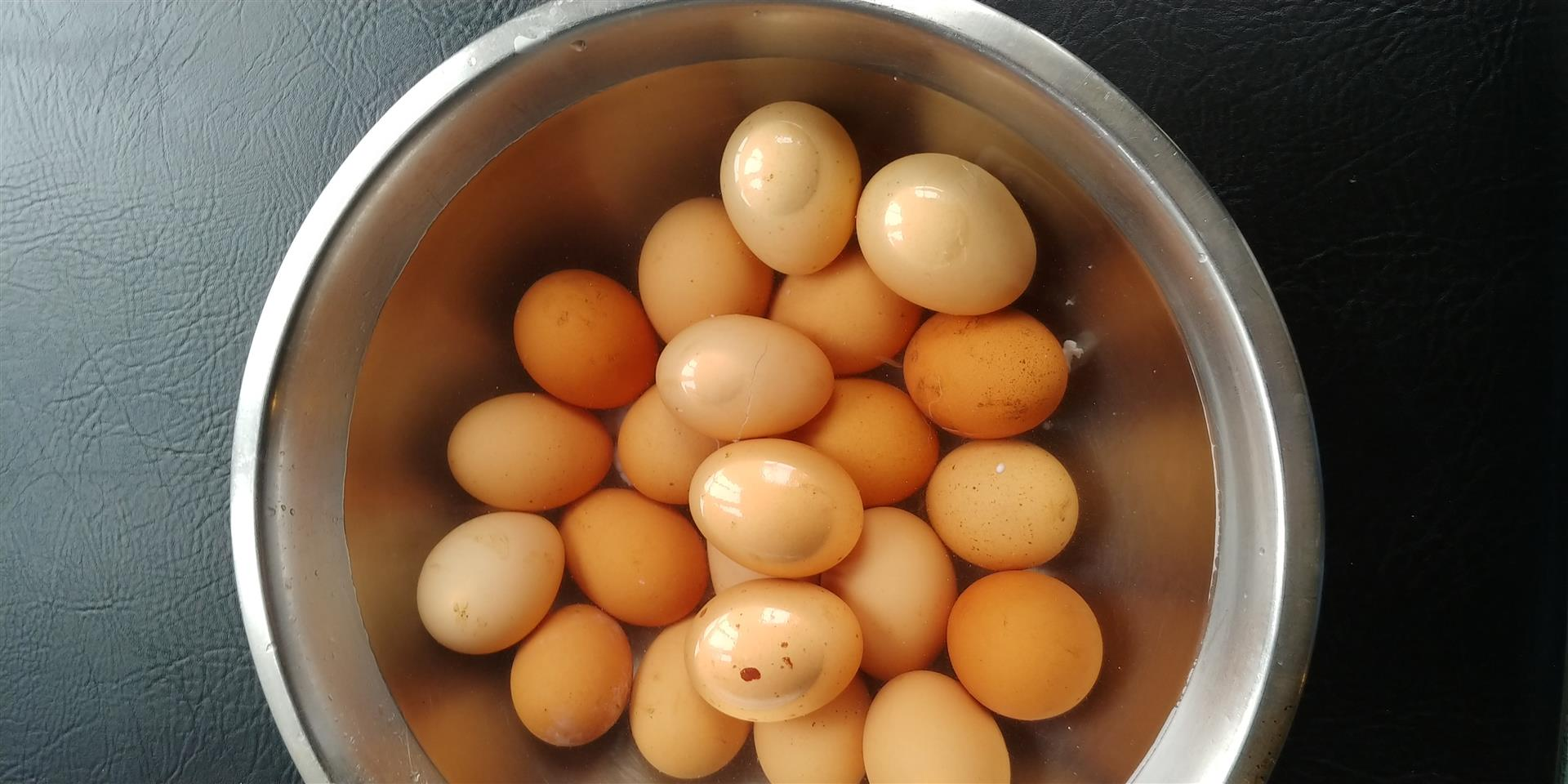 hard boiled eggs in a bowl