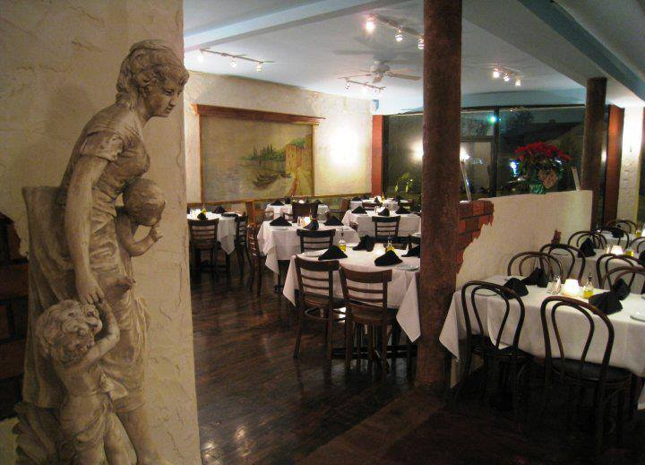 Interior dining area with old-style Italian decor
