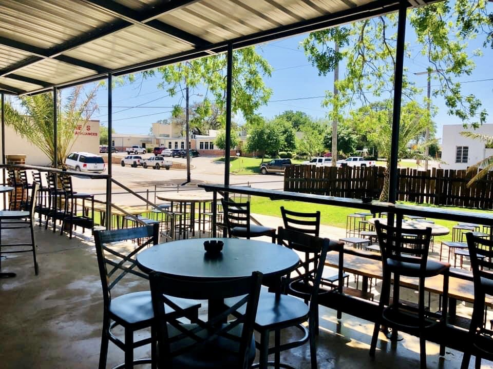 our covered outdoor patio