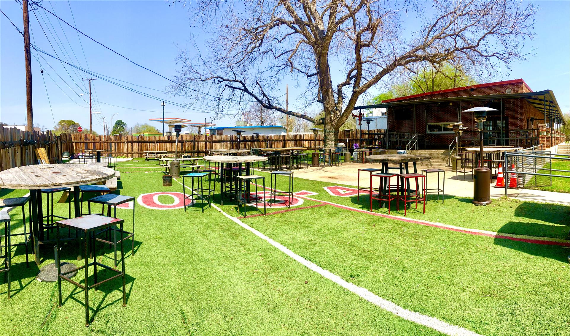 our turfed outdoor patio