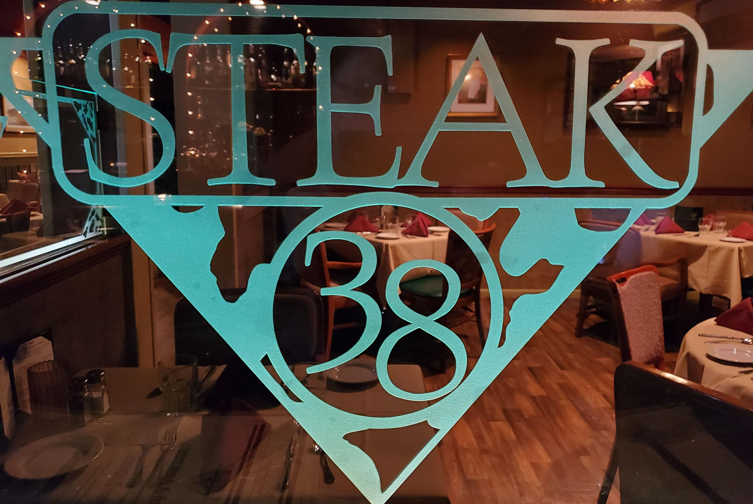 Window with Steak 38 decal