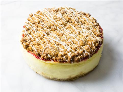 Raspberry Crumb Cheesecake