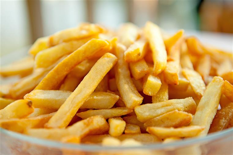 Pile of crispy french fries