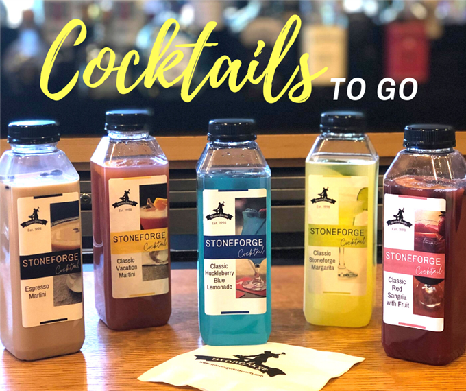 five cocktails in bottles to go