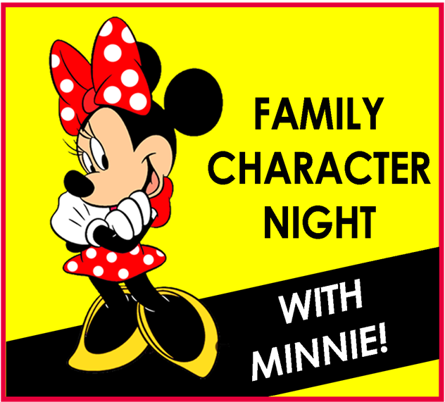 a picture of Minnie mouse for family character night.