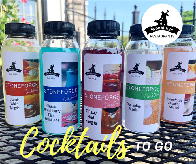 cocktails featured in to go bottles
