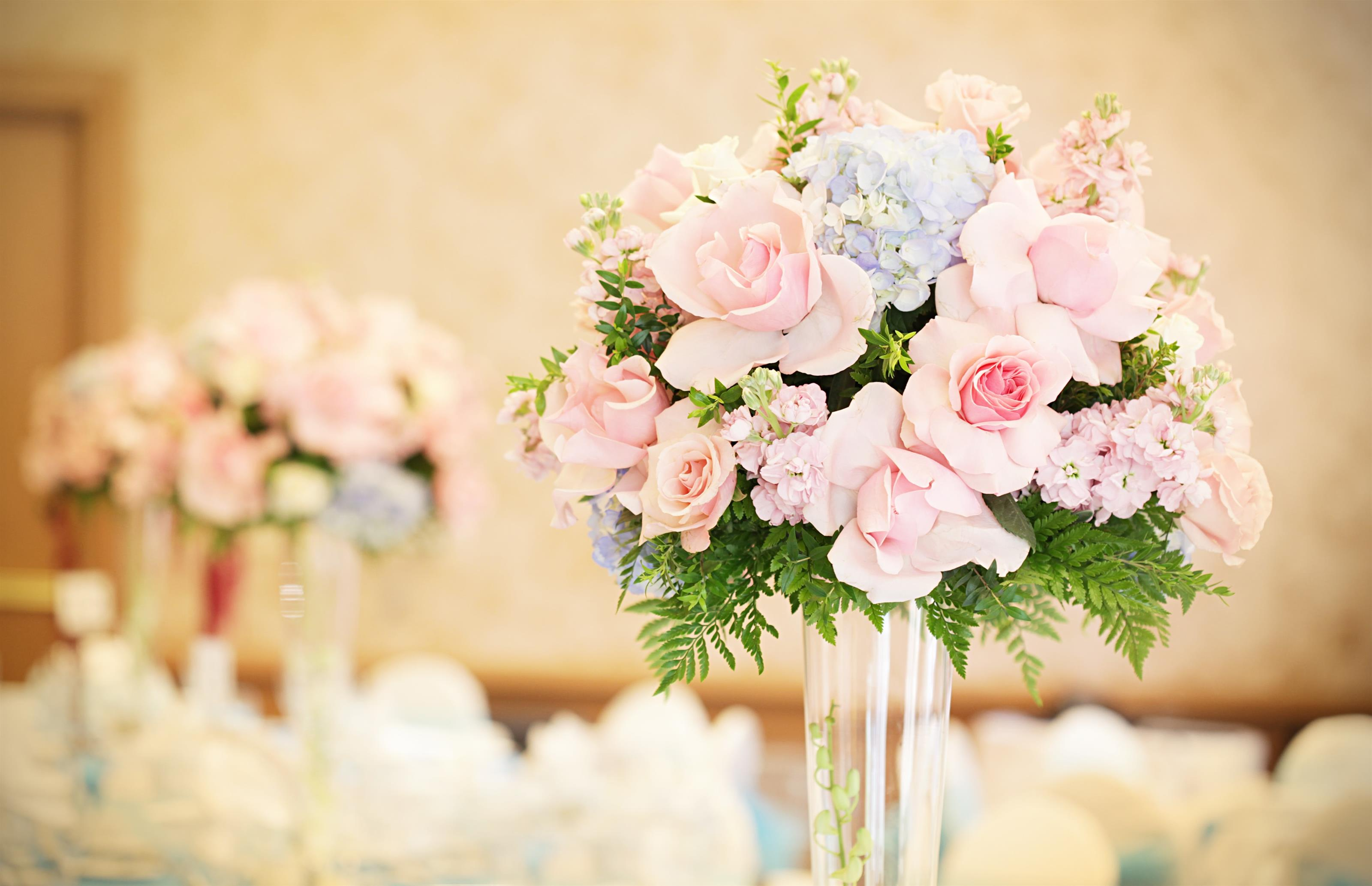 beautiful flower centerpiece on a table