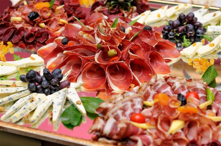 cold cut and cheese platter