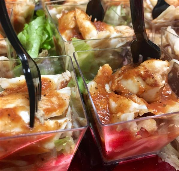 mini chicken hors d'oeuvres