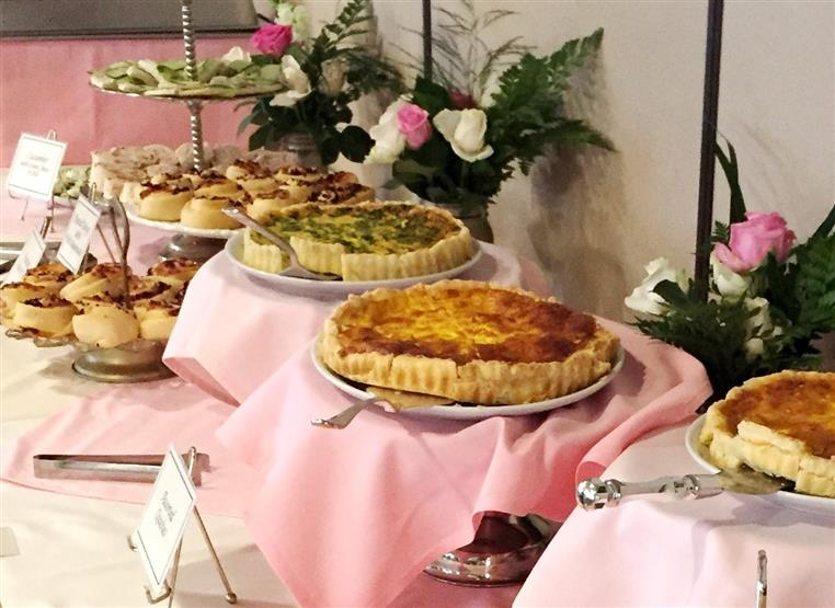 assorted quiches on a table