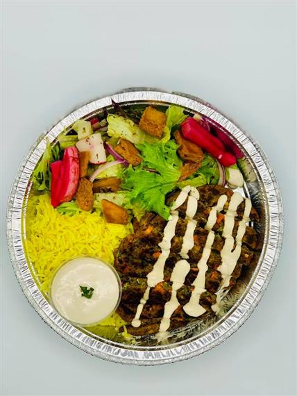 Falafel Platter With Rice, Salad & Hummus