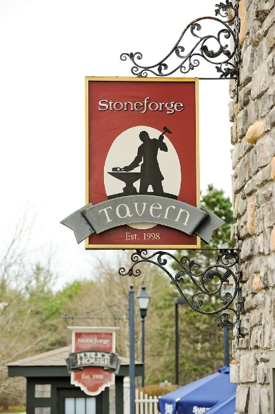 Exteiror sign labled Stoneforge Taven Est. 1998