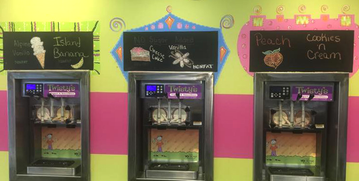 Frozen yogurt soft-serve machines