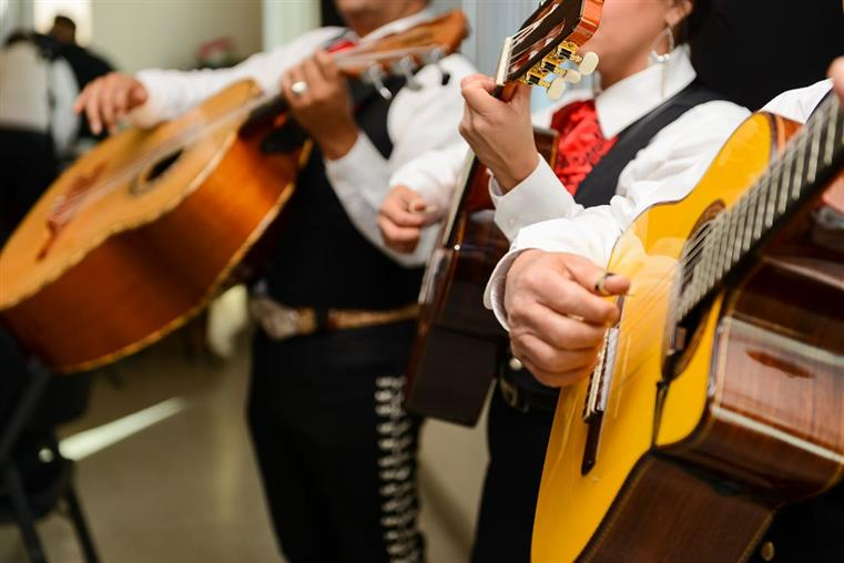 mariachi band inside the restaurant