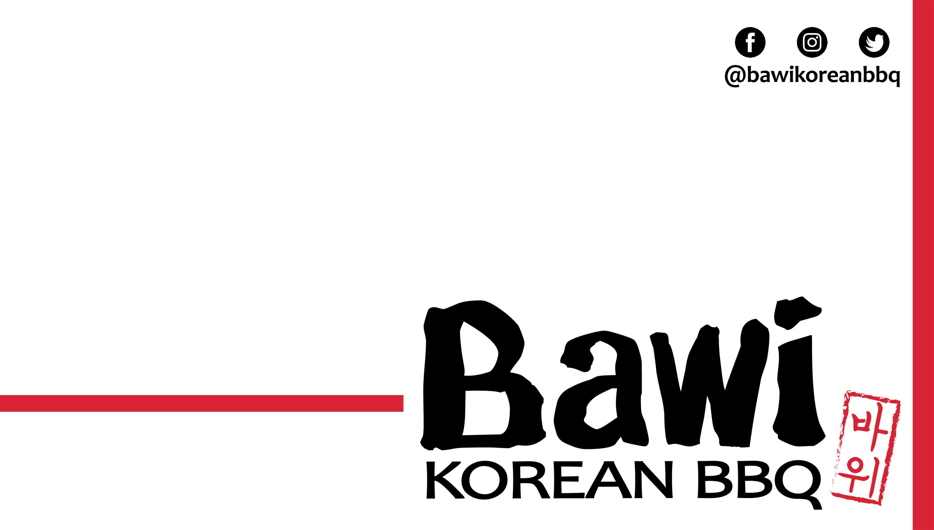 Bawi Korean BBQ All You Can Eat Menu
