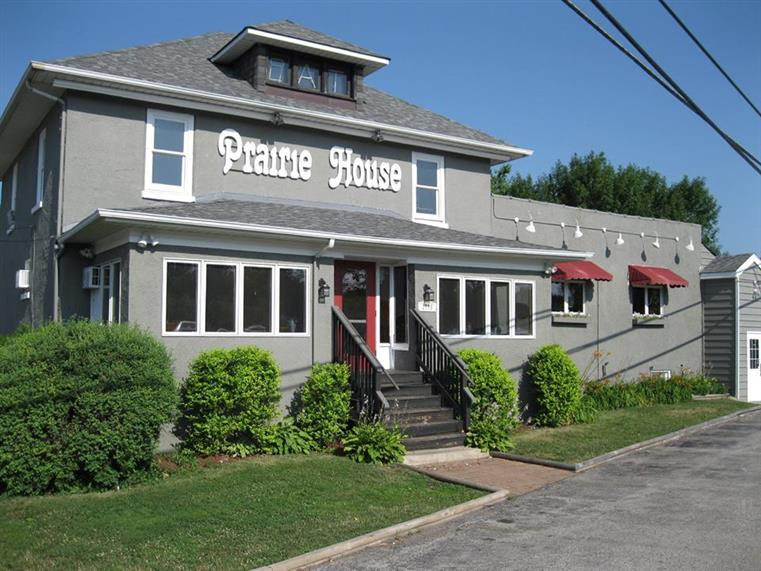 An outside view of The Prairie House Tavern