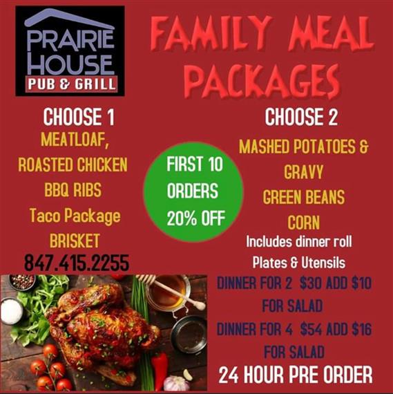 Let us prepare full family meals for you!!