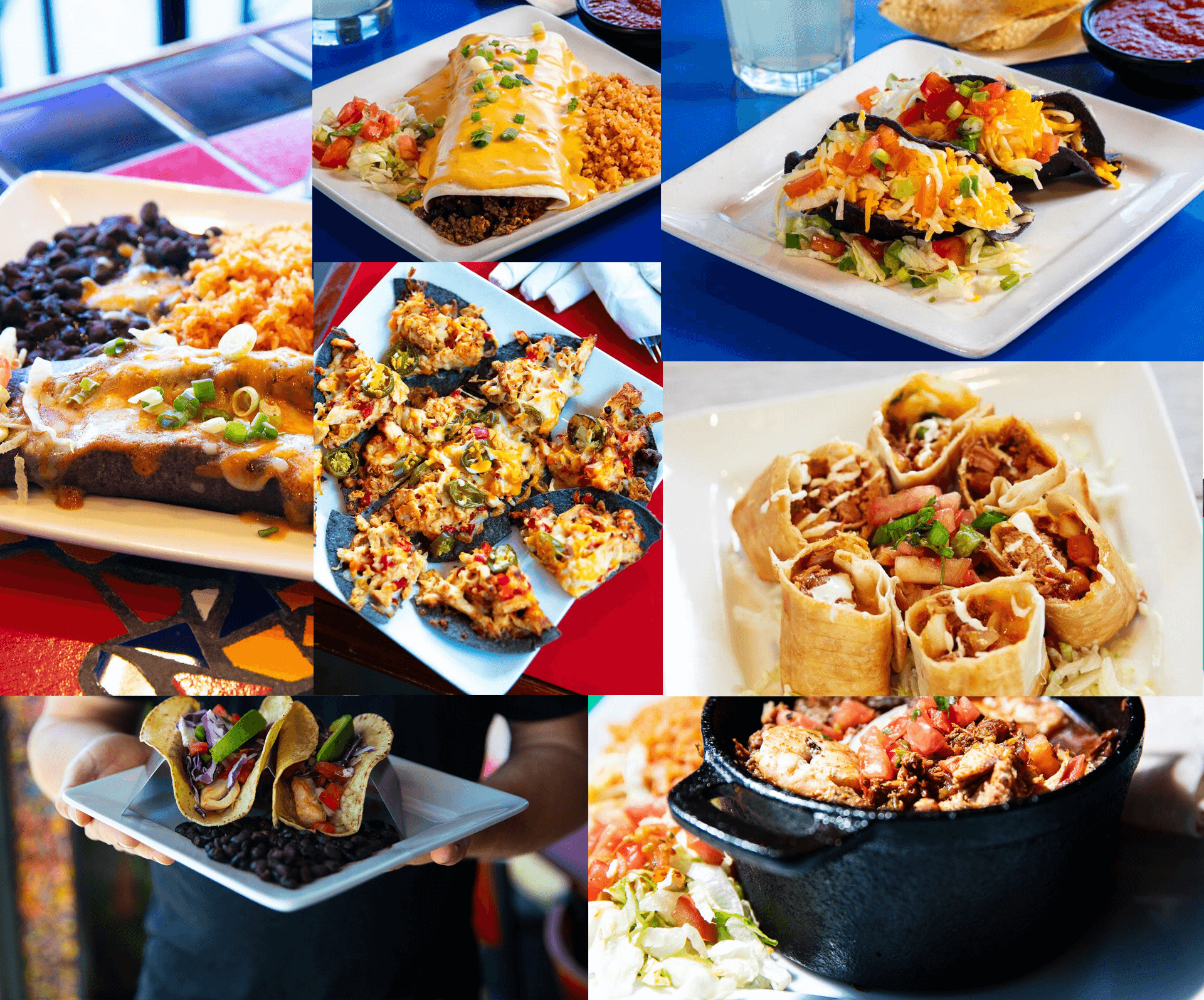 collage of various mexican food dishes
