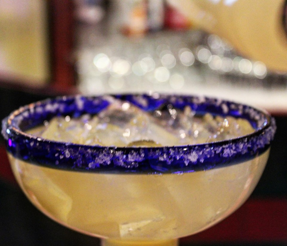 Classic margarita with salt rim