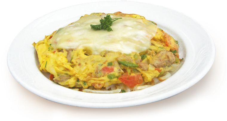mixed vegetable frittata topped with cheese
