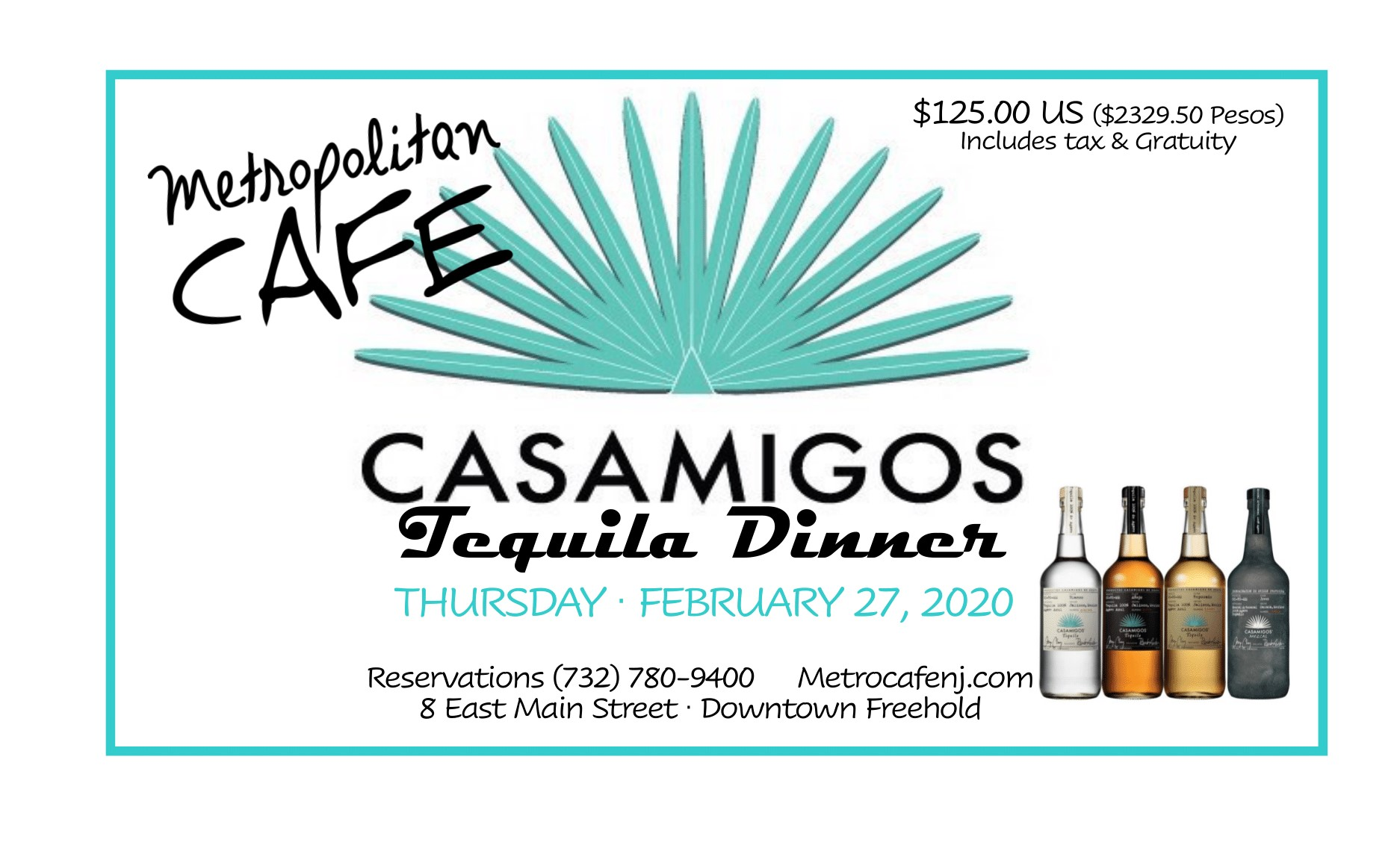 Casamigos Tequila Dinner - click for readable PDF