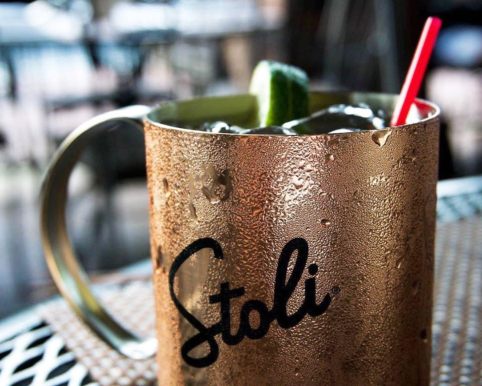 Moscow Mule in Stoli copper cup