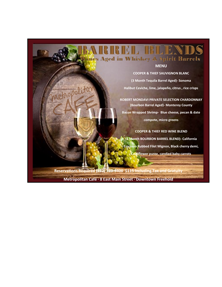 Barrel Blends Event