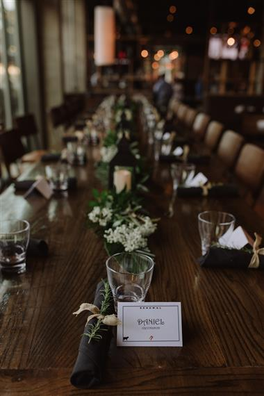 table set up and decorated for a private event