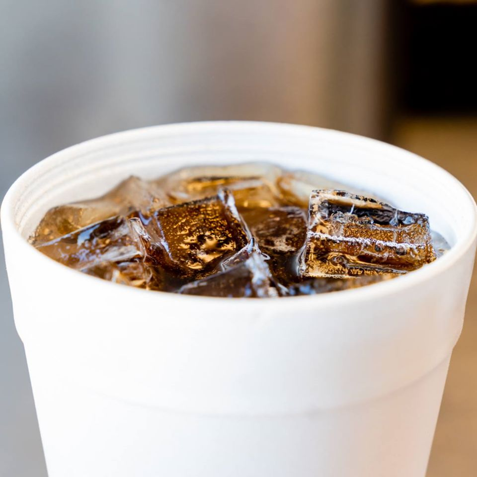 fountain soda with ice