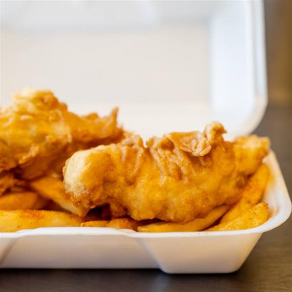 chicken strips and french fries