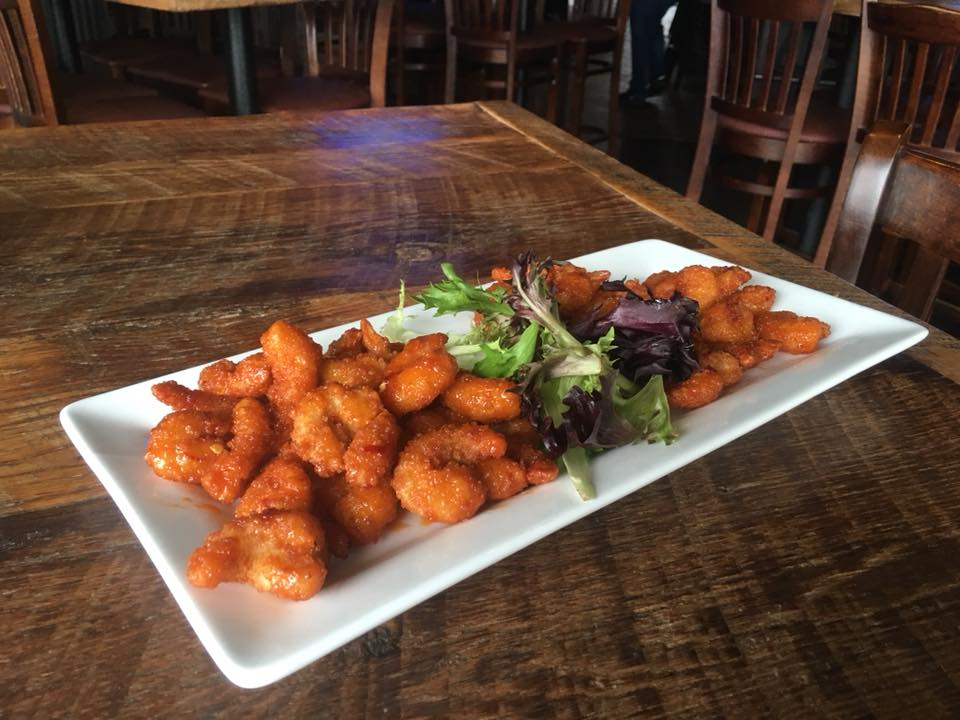 Plate of Fried buffalo shrimp