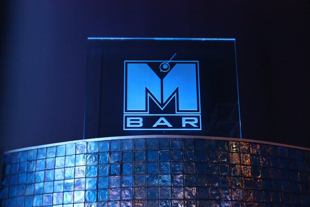 M Bar logo on wall