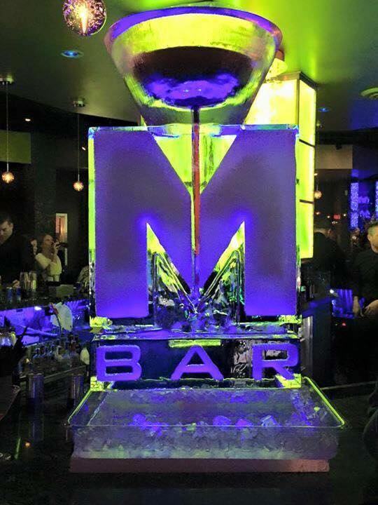 M Bar ice luge