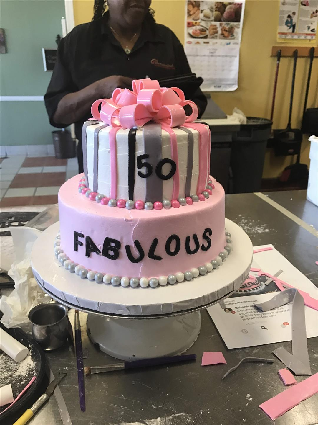 50 and fabulous birthday cake