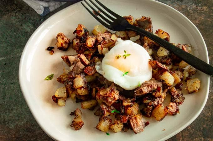 Egg over homefries
